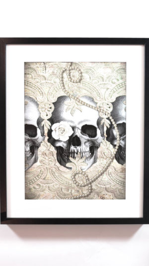 SKULL WITH PEARLS tavla med poster